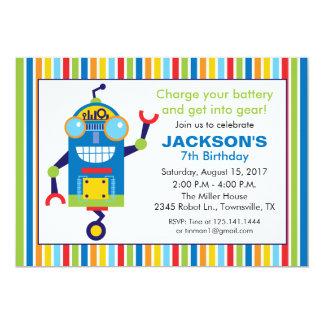ロボット誕生日のパーティの招待状 カード