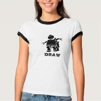 ロボット銃の戦闘機 Tシャツ