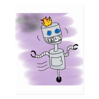 ロボット間違い ポストカード