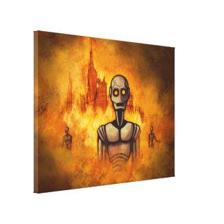 ロボット革命のサイエンスフィクションのキャンバスのプリント キャンバスプリント