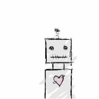 ロボット 写真彫刻(台付き)