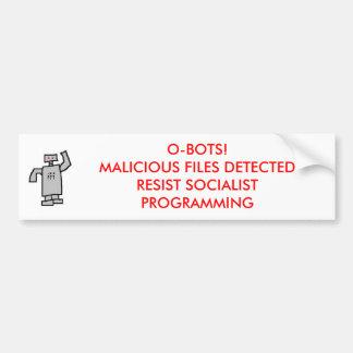 ロボット、O-BOTS! 検出される悪意のあるファイル バンパーステッカー