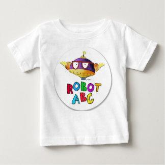 ロボットABCの円のロゴ ベビーTシャツ