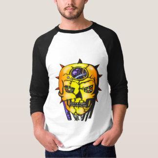 ロボティック邪悪なスカル Tシャツ