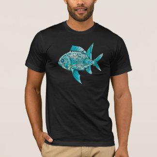 ロボティック魚の人のTシャツ Tシャツ