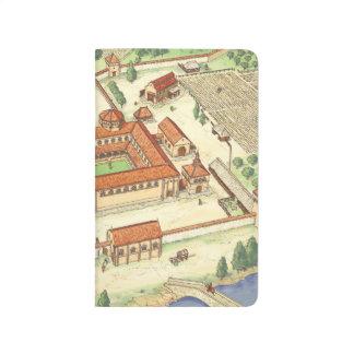 ロマネスク様式の大修道院。 モデル ポケットジャーナル