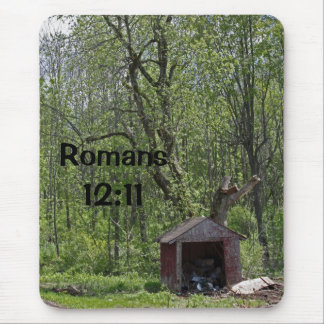 ロマンの12:11の古い掘っ建て小屋のマウスパッド マウスパッド