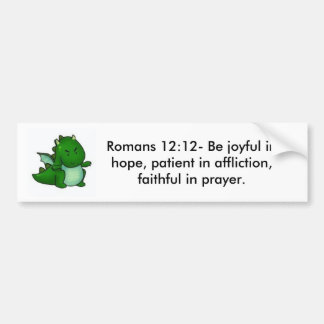 ロマンの12:12 バンパーステッカー