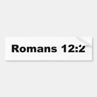 ロマンの12:2 バンパーステッカー