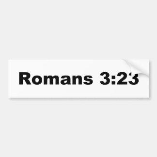 ロマンの3:23 バンパーステッカー