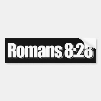 ロマンの8:28のクリスチャン バンパーステッカー