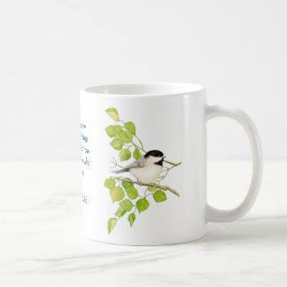 ロマンの8:28の聖書の聖なる書物、経典の《鳥》アメリカゴガラの鳥の芸術 コーヒーマグカップ