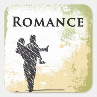 ロマンスのジャンルの表紙の正方形のステッカー スクエアシール