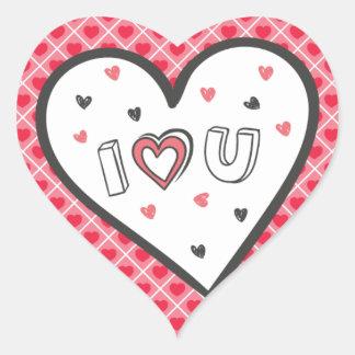 ロマンスのピンクのハートのかわいい菓子非常に愛して下さい ハートシール