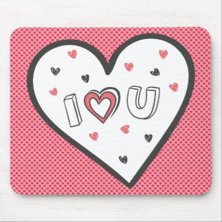 ロマンスのピンクのハートのかわいい菓子非常に愛して下さい マウスパッド