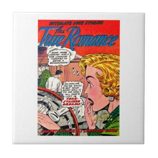 ロマンスの芸術-ヴィンテージのロマンチックな喜劇的な芸術 タイル