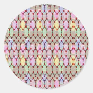 ロマンスエレガントな宝石パターンはNVN288おもしろいgifを賛美します ラウンドシール