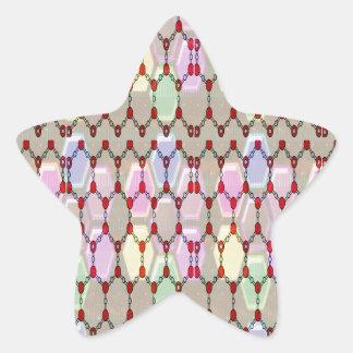 ロマンスエレガントな宝石パターンはNVN288おもしろいgifを賛美します 星シール