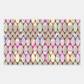 ロマンスエレガントな宝石パターンはNVN288おもしろいgifを賛美します 長方形シール