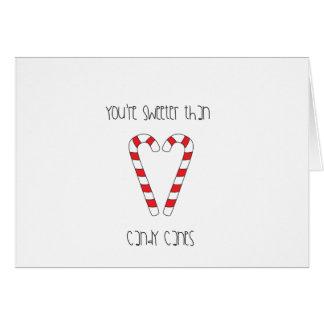 ロマンスキャンディ・ケーンのクリスマスよりあなたは甘い カード