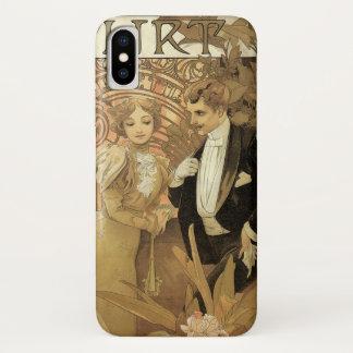 ロマンスヴィンテージのアールヌーボー愛ミュシャによる浮気者 iPhone X ケース
