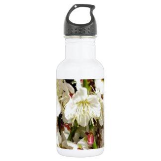 ロマンス枝によるエキゾチックな白い花の束 ウォーターボトル