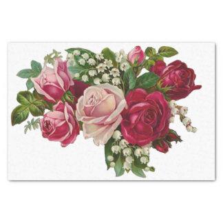 ロマンス谷のクラシックでビクトリアンなバラユリ 薄葉紙