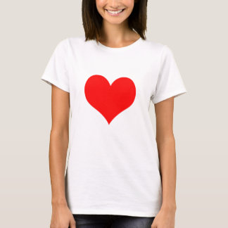 ロマンス赤いハート愛バレンタインデー Tシャツ