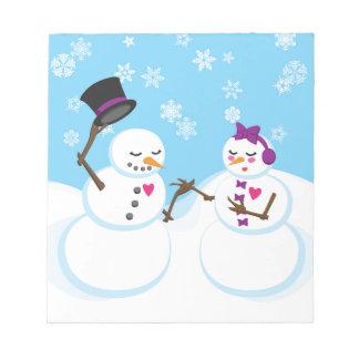 ロマンス雪だるまおよびSnowgirl ノートパッド