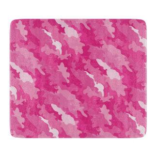 ロマンチックでガーリーなスタイルのカムフラージュのピンクパターン カッティングボード