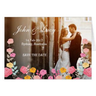 ロマンチックでユニークな結婚式招待状カード花 カード