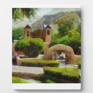 ロマンチックで古い教会、ニューメキシコ。 フォトプラーク