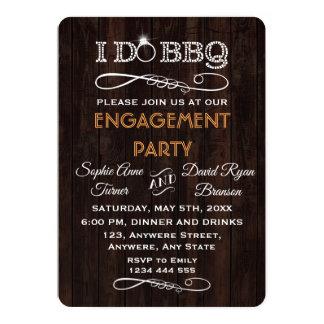 ロマンチックで古い木私はBBQの婚約パーティの招待をします カード
