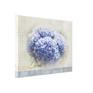 ロマンチックで青いアジサイ キャンバスプリント
