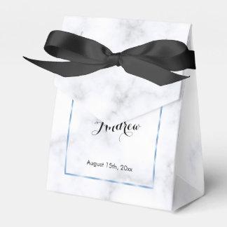 ロマンチックで青い大理石の結婚式 フェイバーボックス