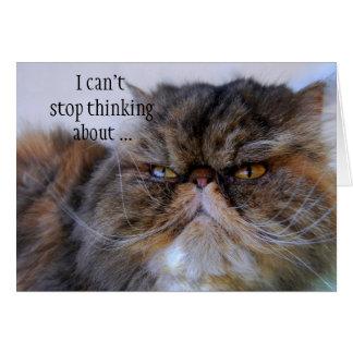 ロマンチックなさらさのペルシャの子猫カード カード