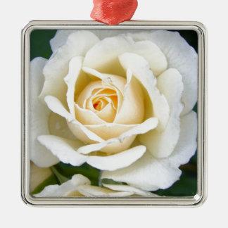 ロマンチックなばら色の花の結婚式 メタルオーナメント