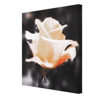 ロマンチックなばら色の花 キャンバスプリント