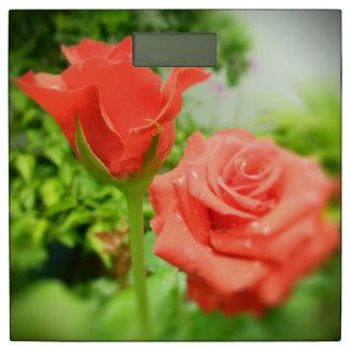 ロマンチックなばら色の花#5 体重計