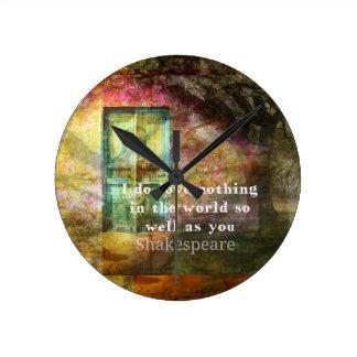 ロマンチックなウィリアム・シェイクスピア愛引用文 ラウンド壁時計