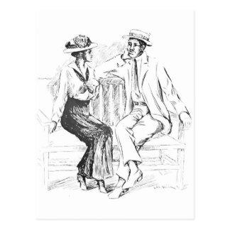 ロマンチックなカップル ポストカード