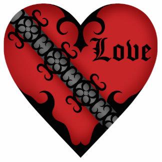 ロマンチックなゴシック様式中世赤いハートの磁石 写真彫刻マグネット