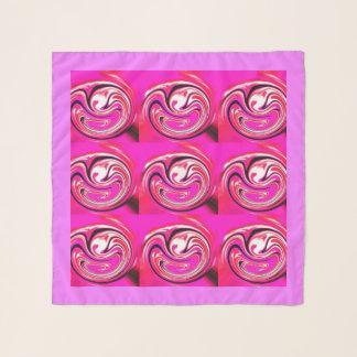 ロマンチックなショッキングピンク スカーフ