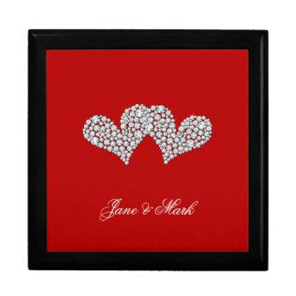 ロマンチックなダイヤモンドのハートのギフト用の箱 ギフトボックス