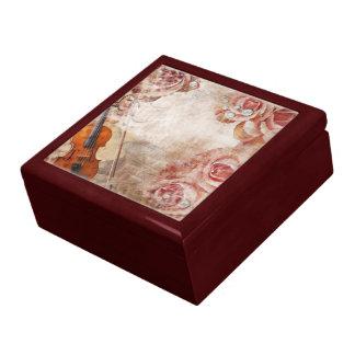 ロマンチックなバイオリンの装身具箱 ギフトボックス