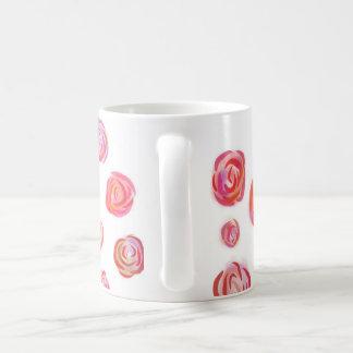 ロマンチックなバラのマグ コーヒーマグカップ