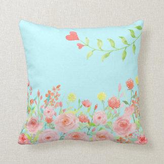 ロマンチックなバラ園の枕クッション色の変更 クッション