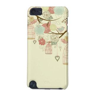 ロマンチックなバラ、鳥、鳥かご、花のヴィンテージ iPod TOUCH 5G ケース