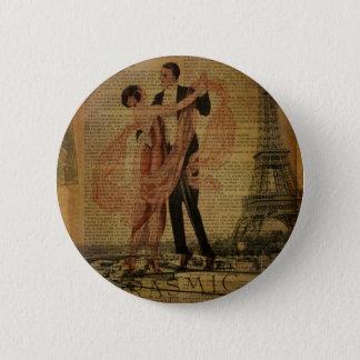 ロマンチックなパリの結婚式のワルツの社交ダンスのダンサー 5.7CM 丸型バッジ