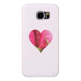 ロマンチックなピンクのバラのハート SAMSUNG GALAXY S6 ケース